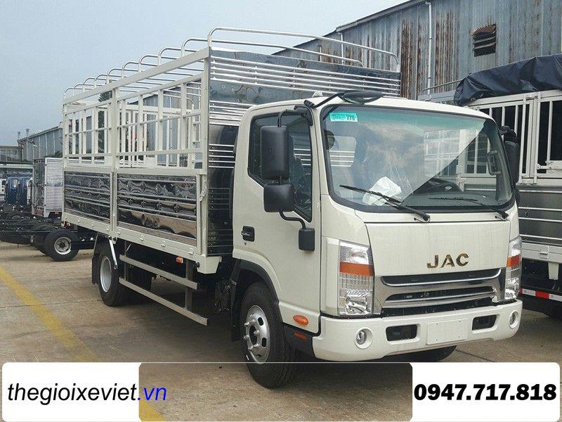 Bán xe tải JAC N650 PLUS thùng dài 6m2 2020 cabin đôi